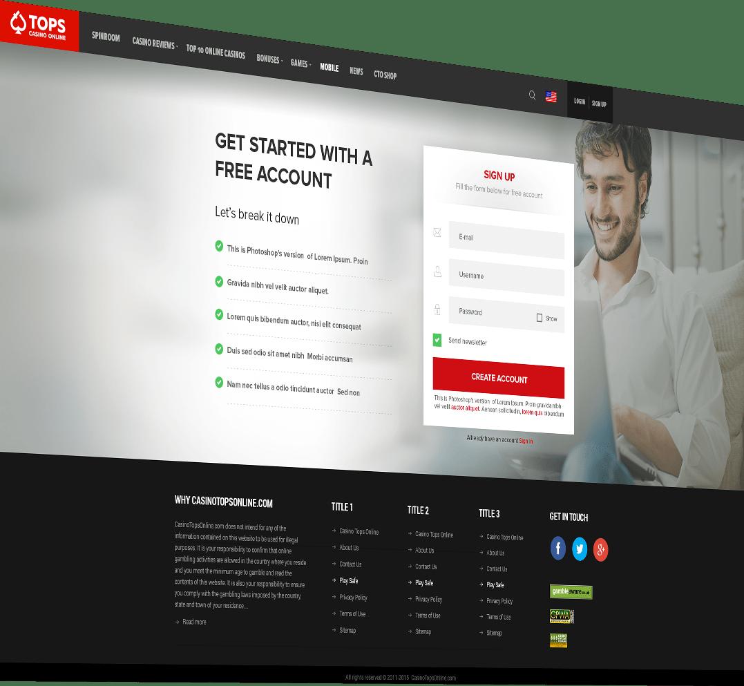 Web developer of CasinoTopsOnline.com