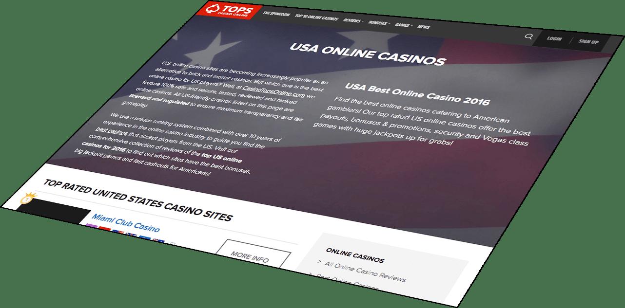 CasinoTopsOnline.com responsive website design