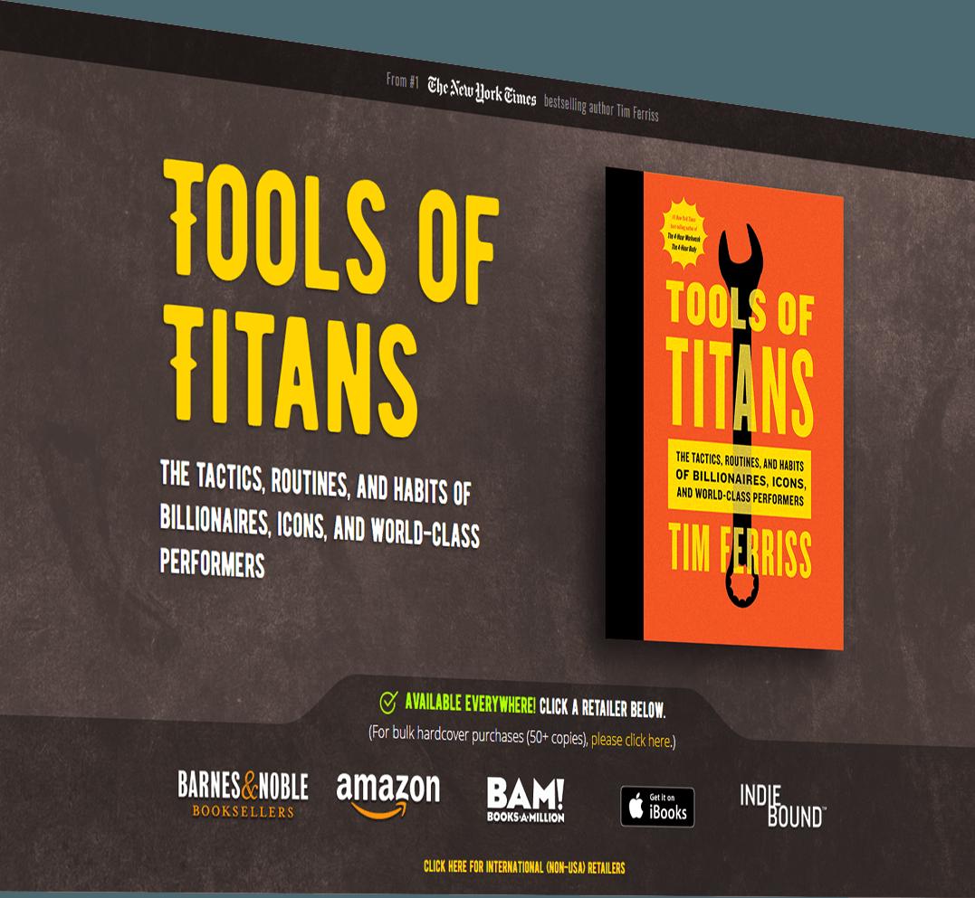 Web developer of Tools of Titans