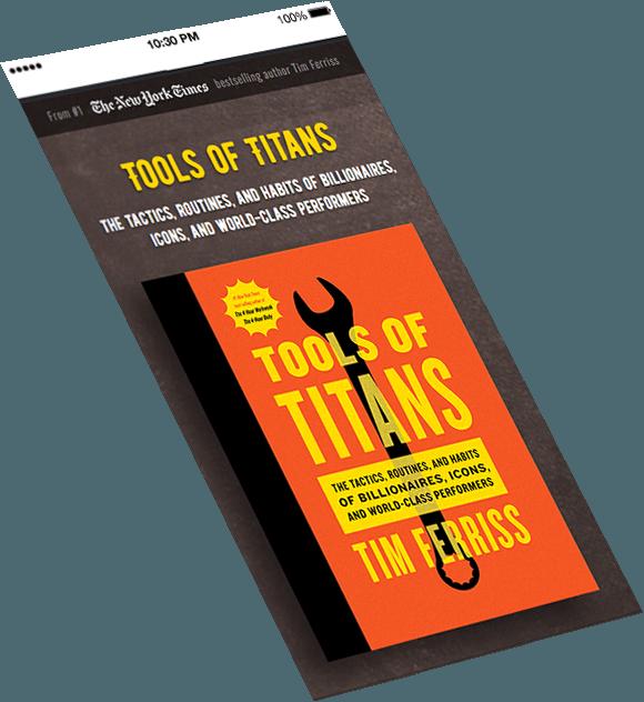 Tools of Titans mobile version design