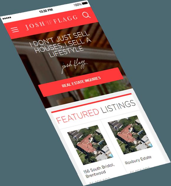 JoshFlagg.com mobile version design