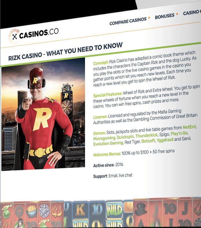 Casinos.co web site development
